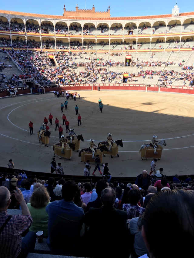 Start of the Madrid bullfights. Brownell. May, 2019