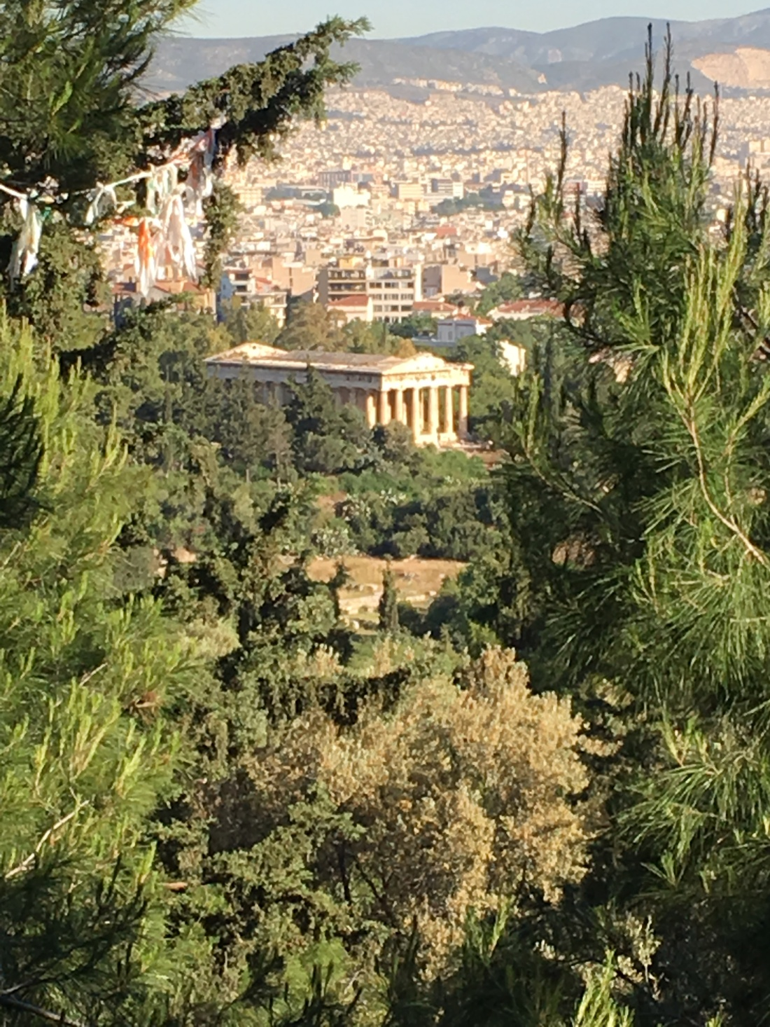 The Temple of Hephaestus in the Athens Agora. Brownell, May 2019.