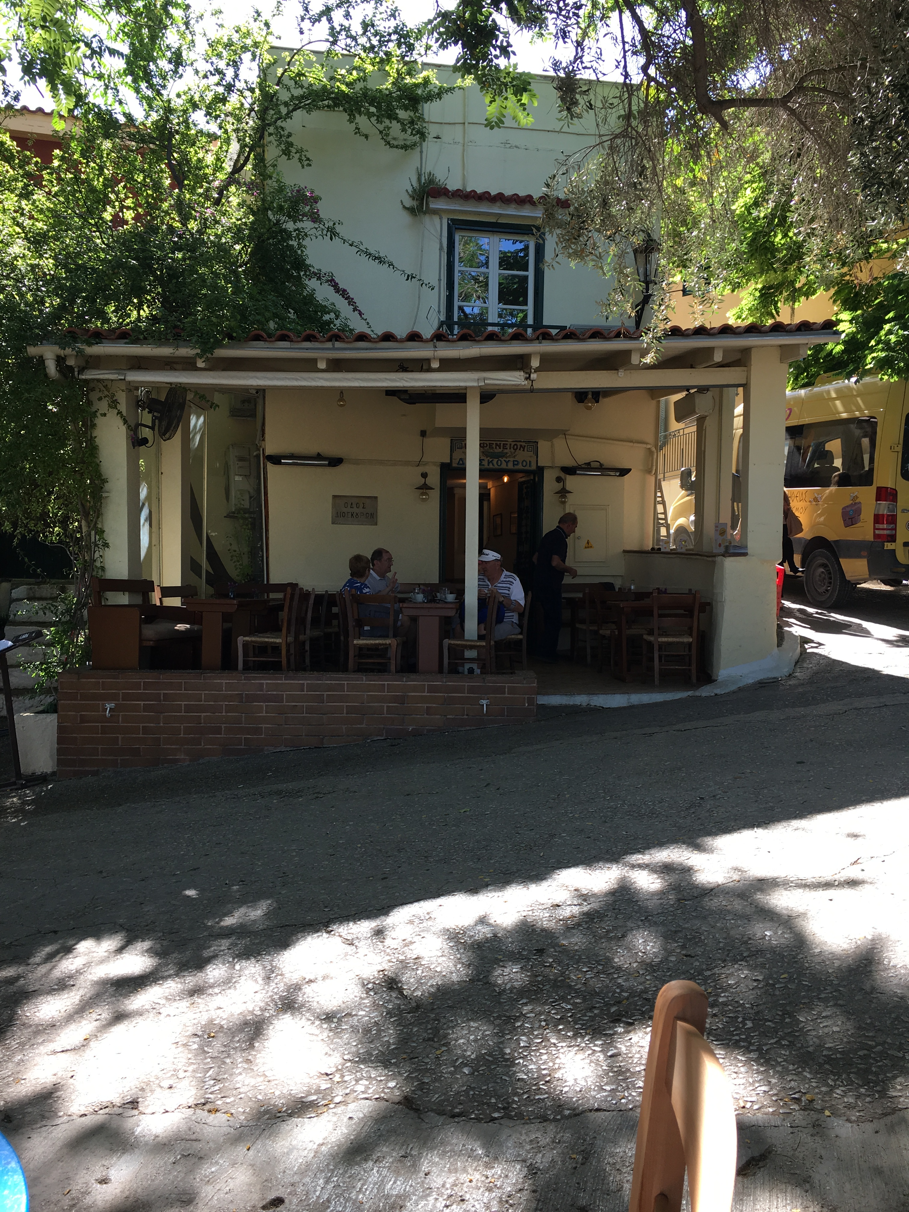 Street side cafe, Athens. Brownell, May 2019