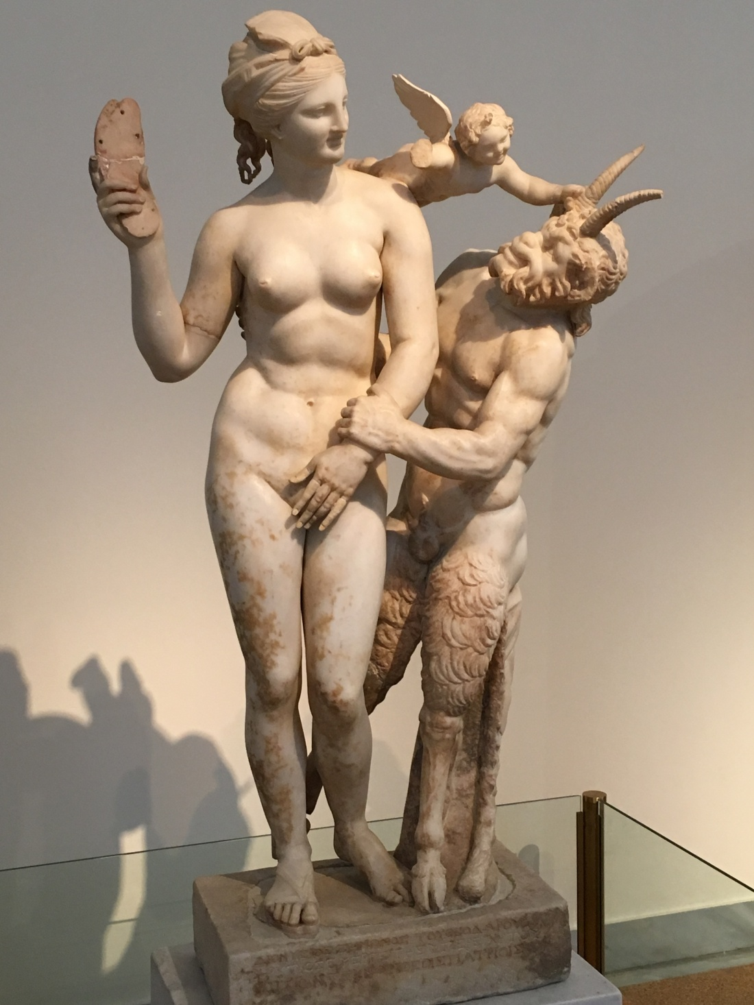 Aphrodite and the Satire. Athens Museum. Brownell, May 2019