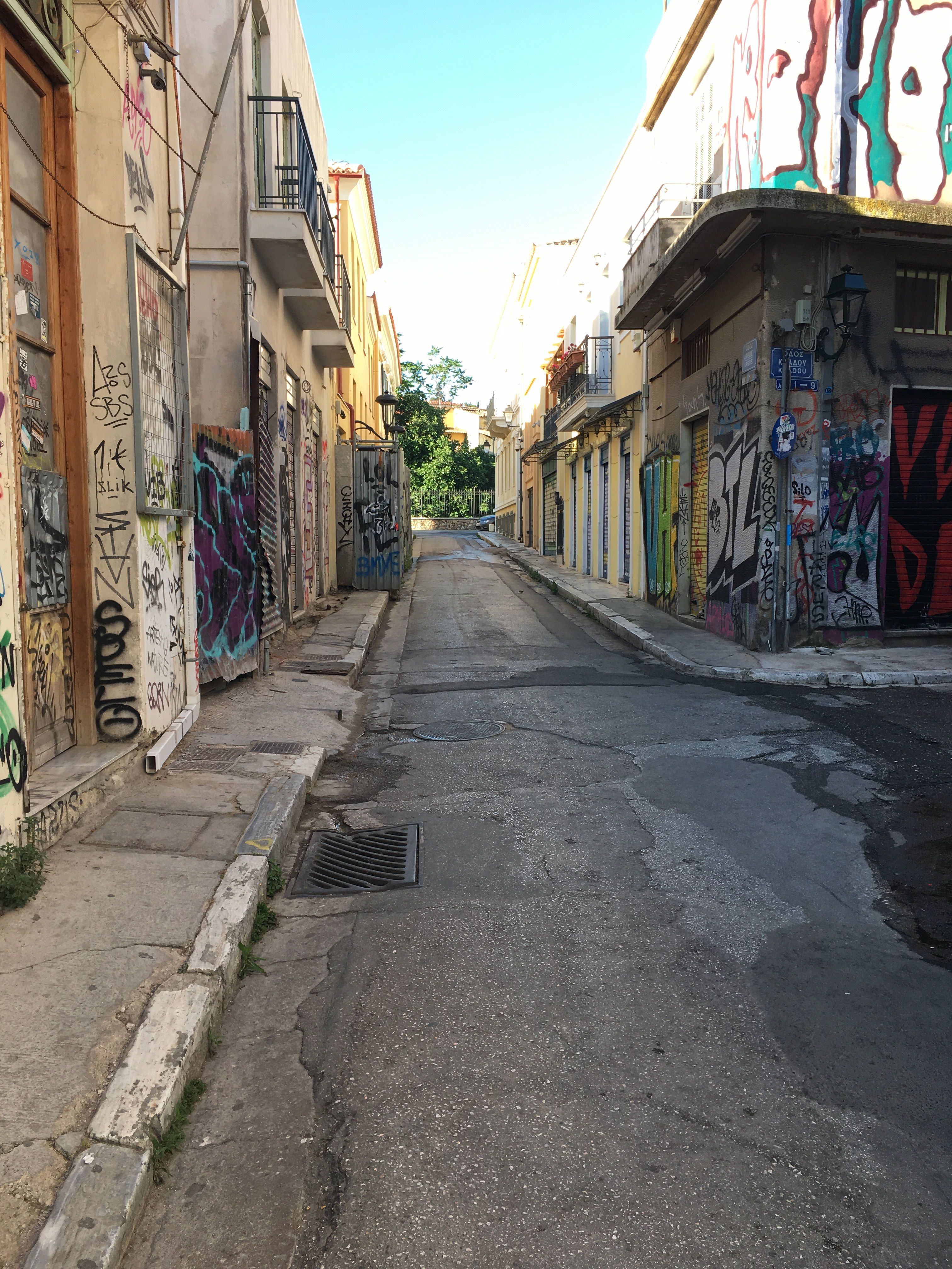 A side street in Athens, Greece. BROWNELL, May 2019