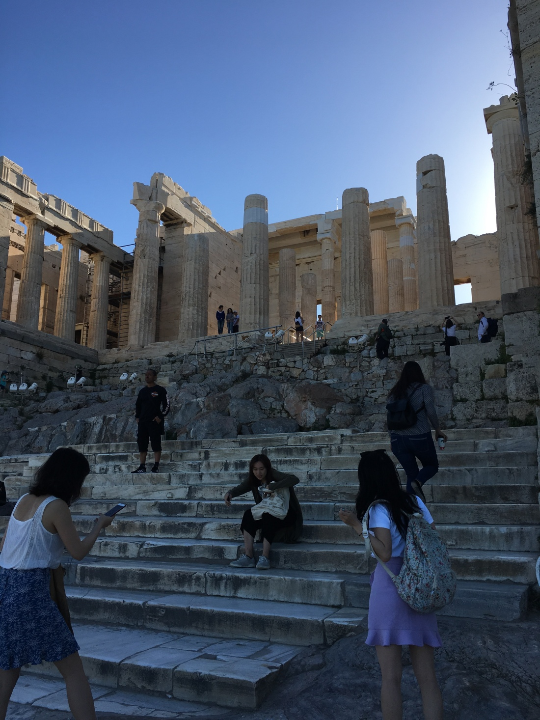 Steps up to the Parthenon at the opening of the day. BROWNELL, May 2019