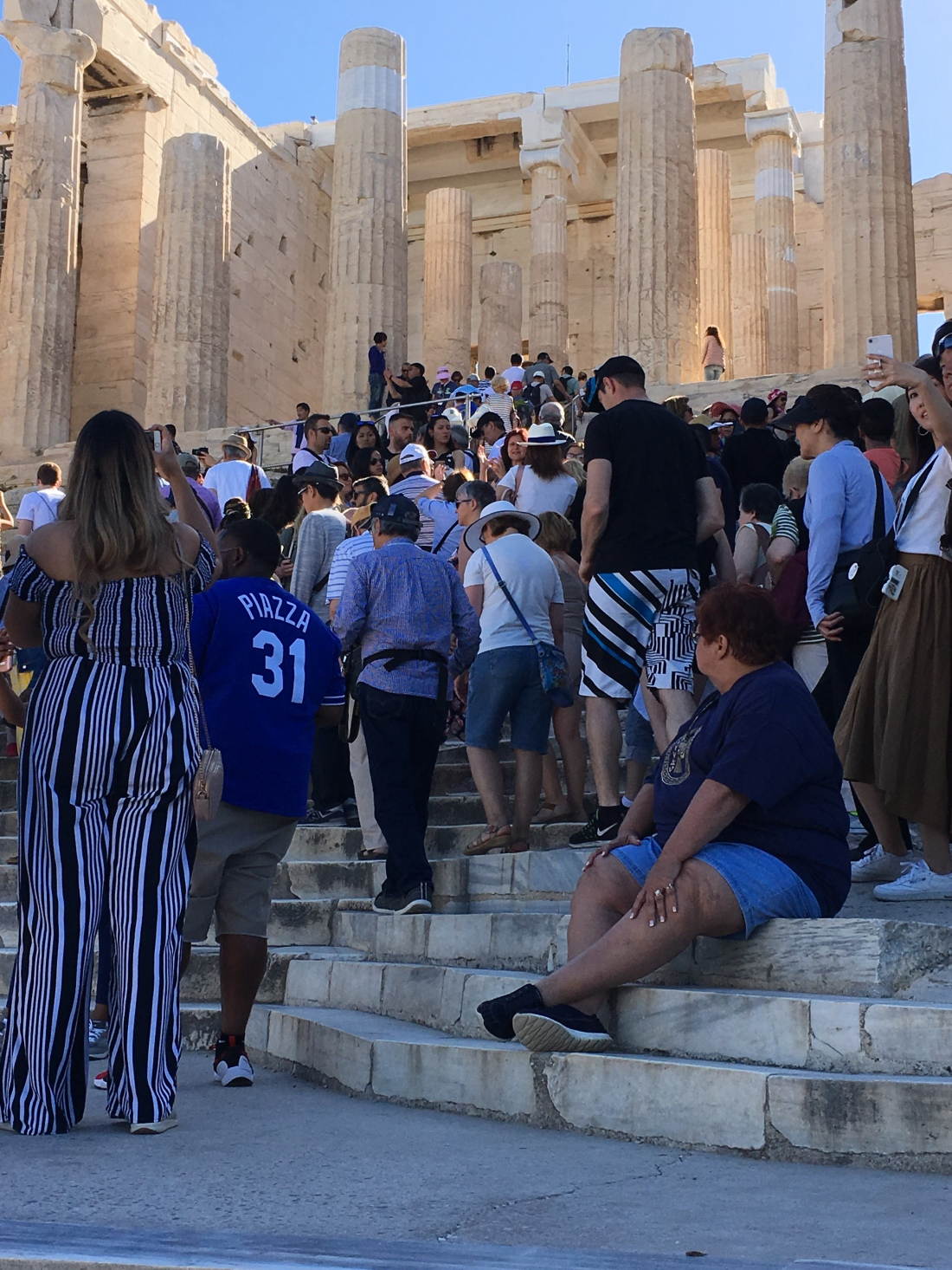 Steps up to the Parthenon a couple hours after opening. BROWNELL, May 2019.