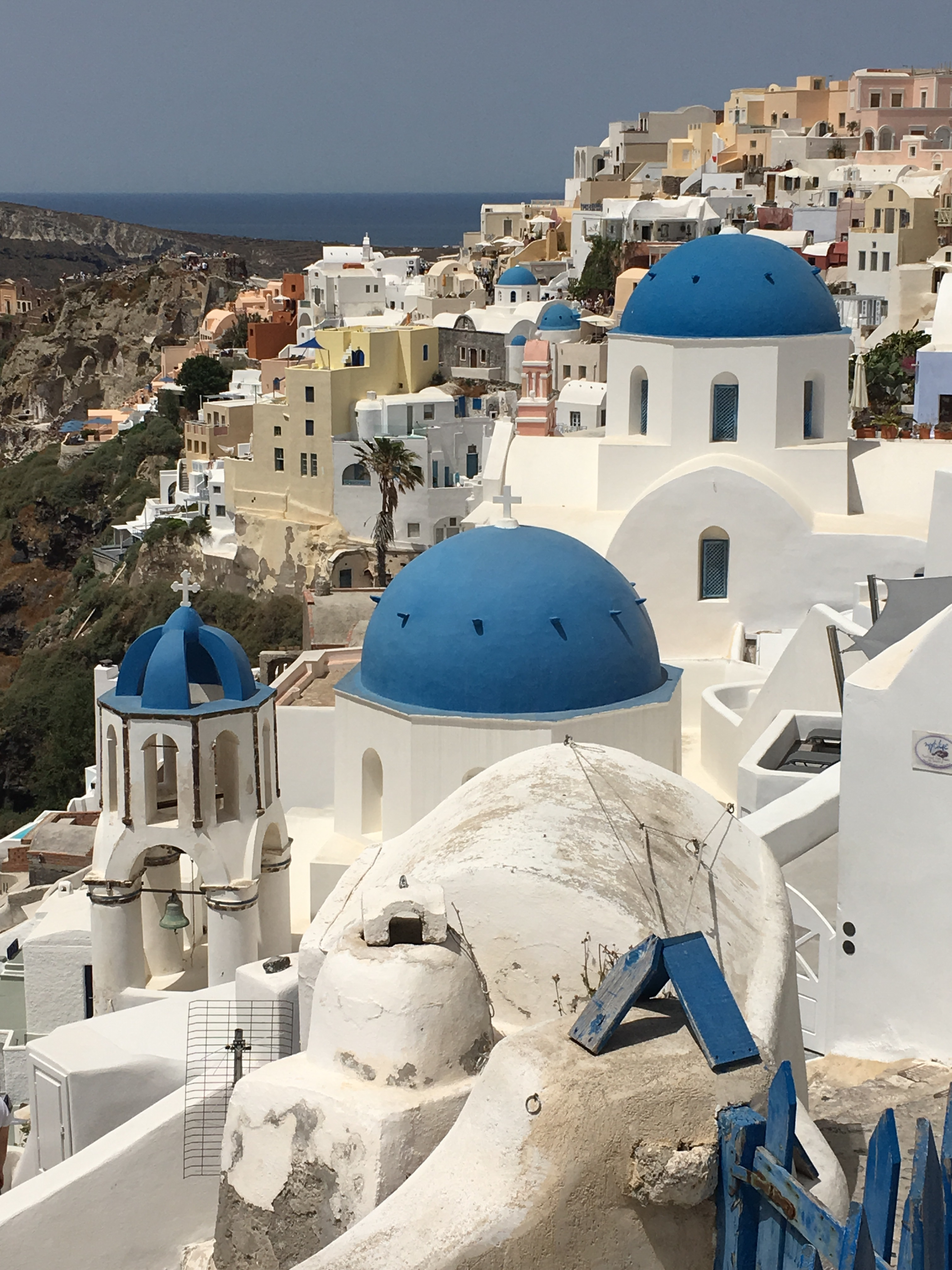 Blue domed churches of Oia. Brownell. 2019