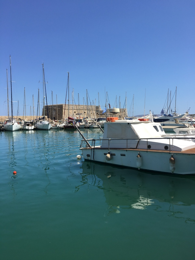 The old port, Heraklion, Crete. Brownell. 2019