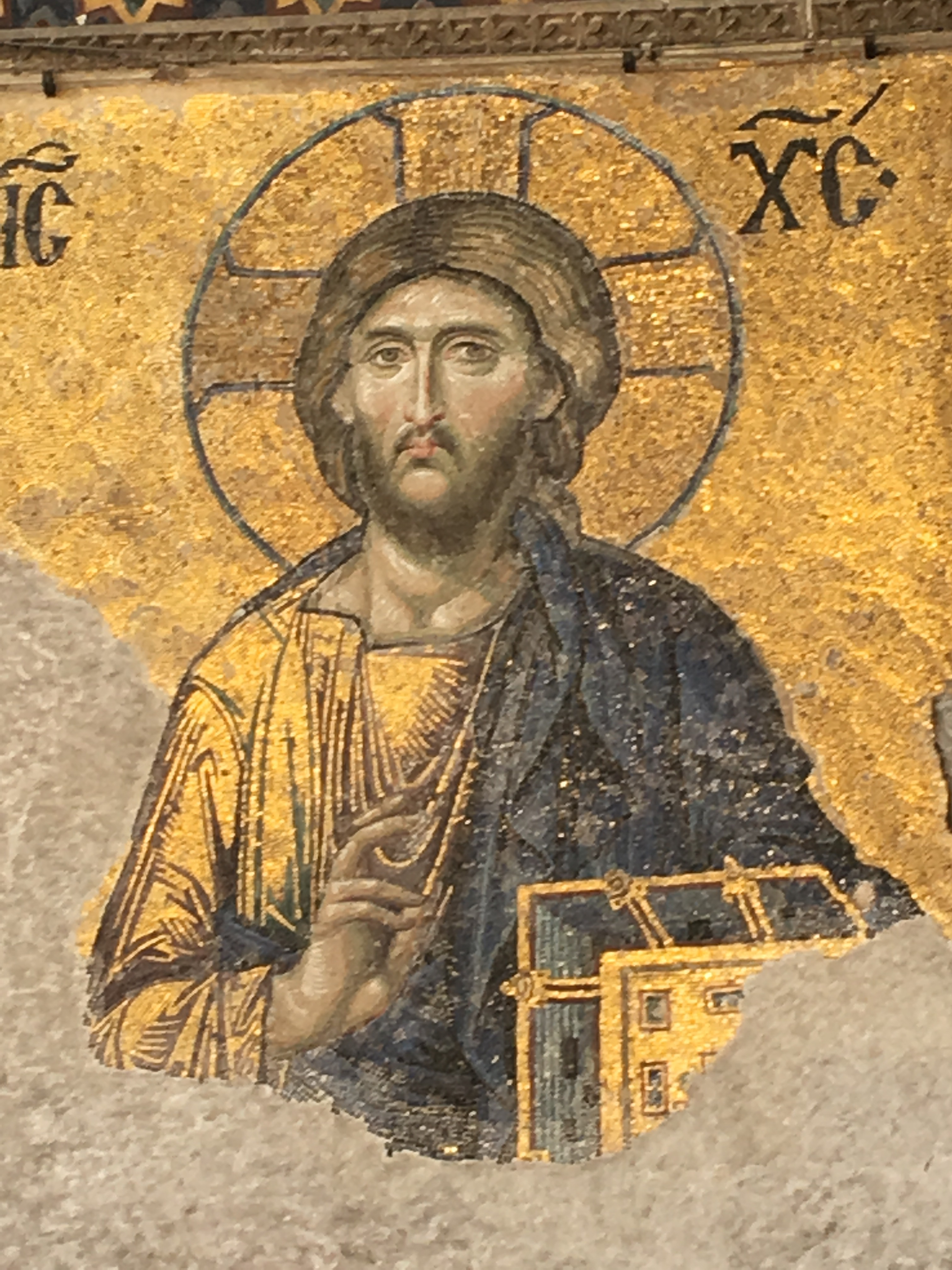 Christian iconography inside Hagia Sophia. Brownell. 2019