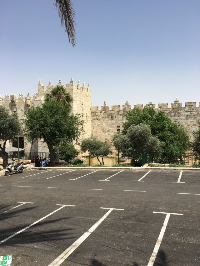 Walls of Jerusalem outside the Jaffa Gate. 2019