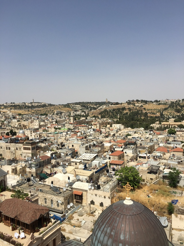 Old city of Jerusalem from above. 2019