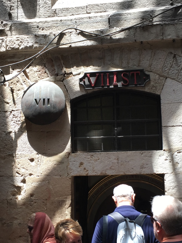 Stop VII on the Via Dolorosa, Jerusalem. 2019