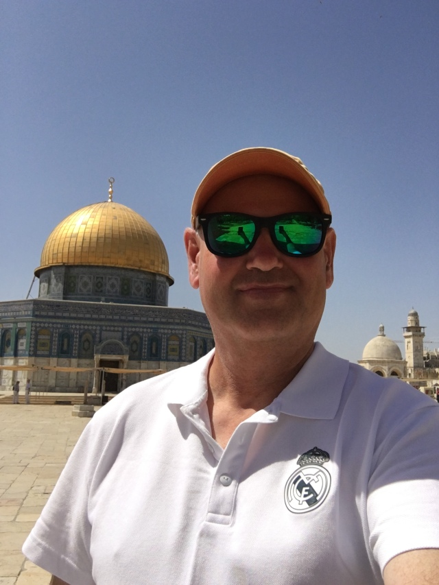 The author standing on the Temple Mount. 2019