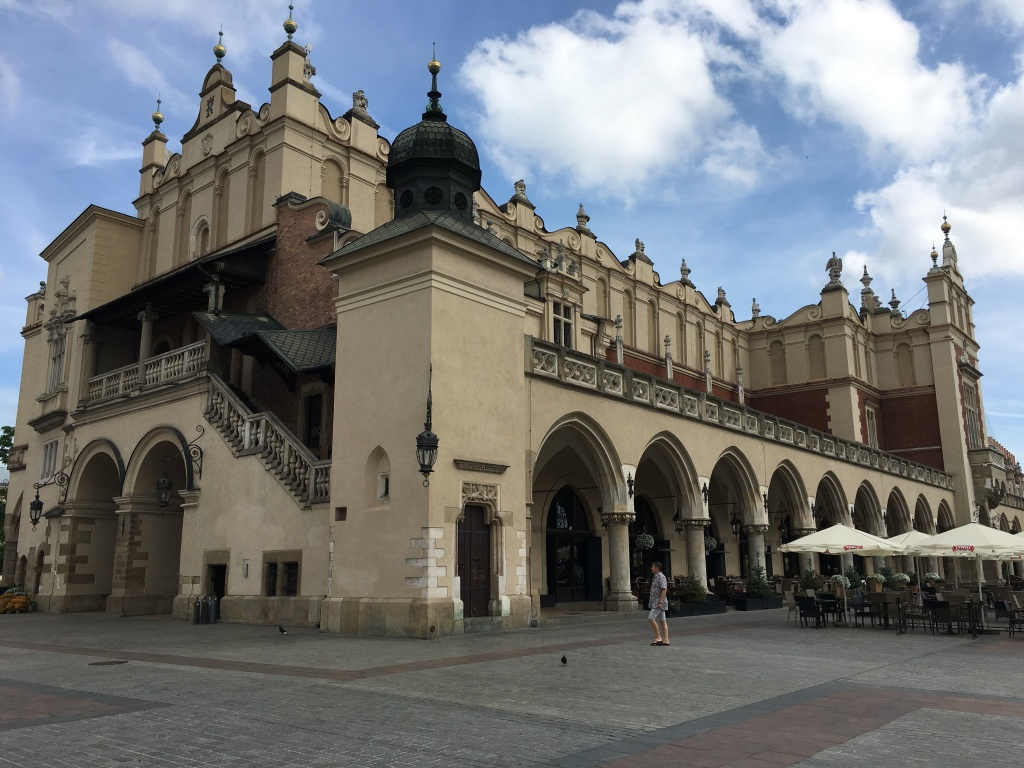 The exterior of The Cloth Hall, situated in the old town market square, Krakow, Poland. 2019. Brownell