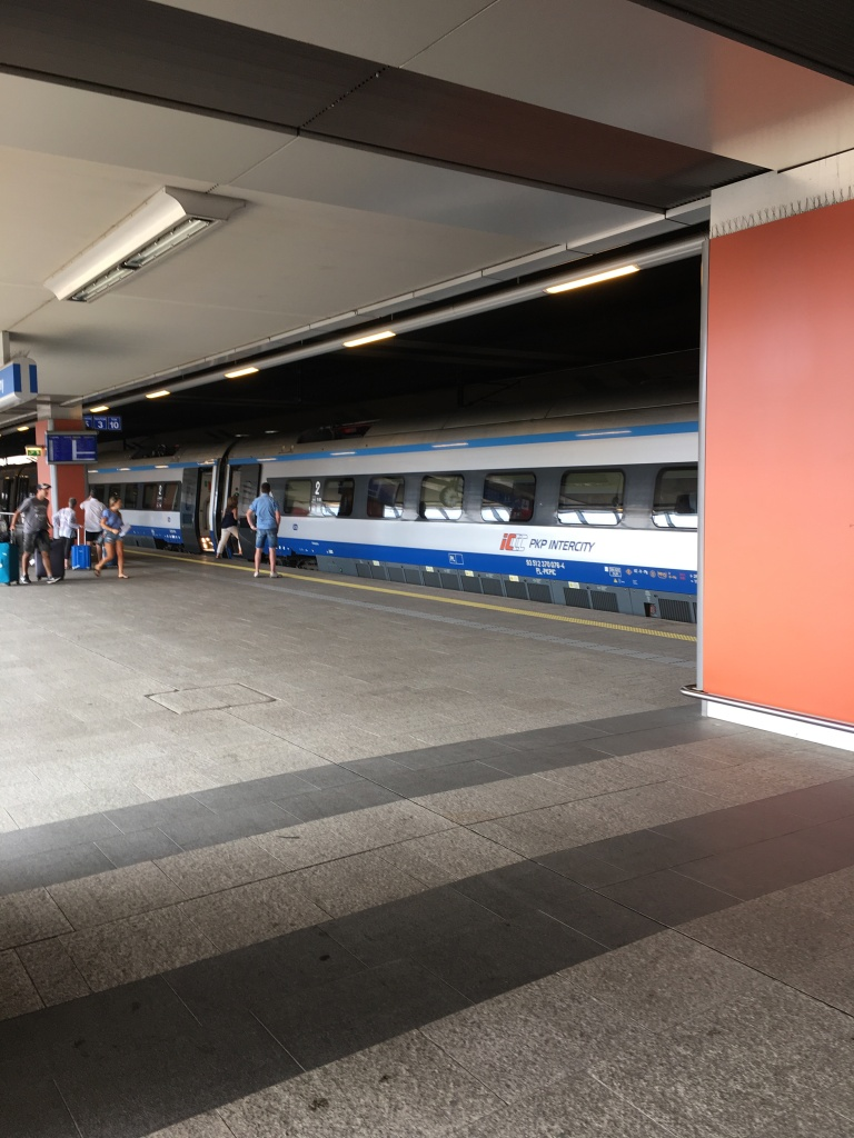 View from the platform of the Krakow train station, Krakow, Poland. 2019. Brownell