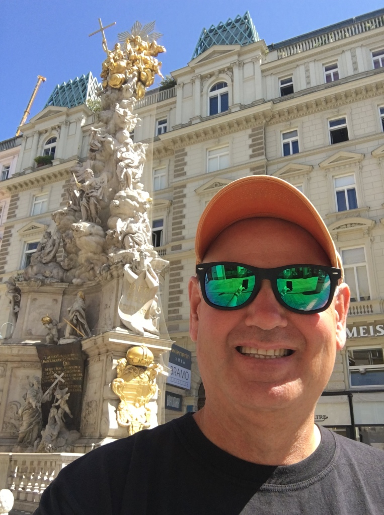 Fountain in downtown Vienna, Austria. 2019. Brownell